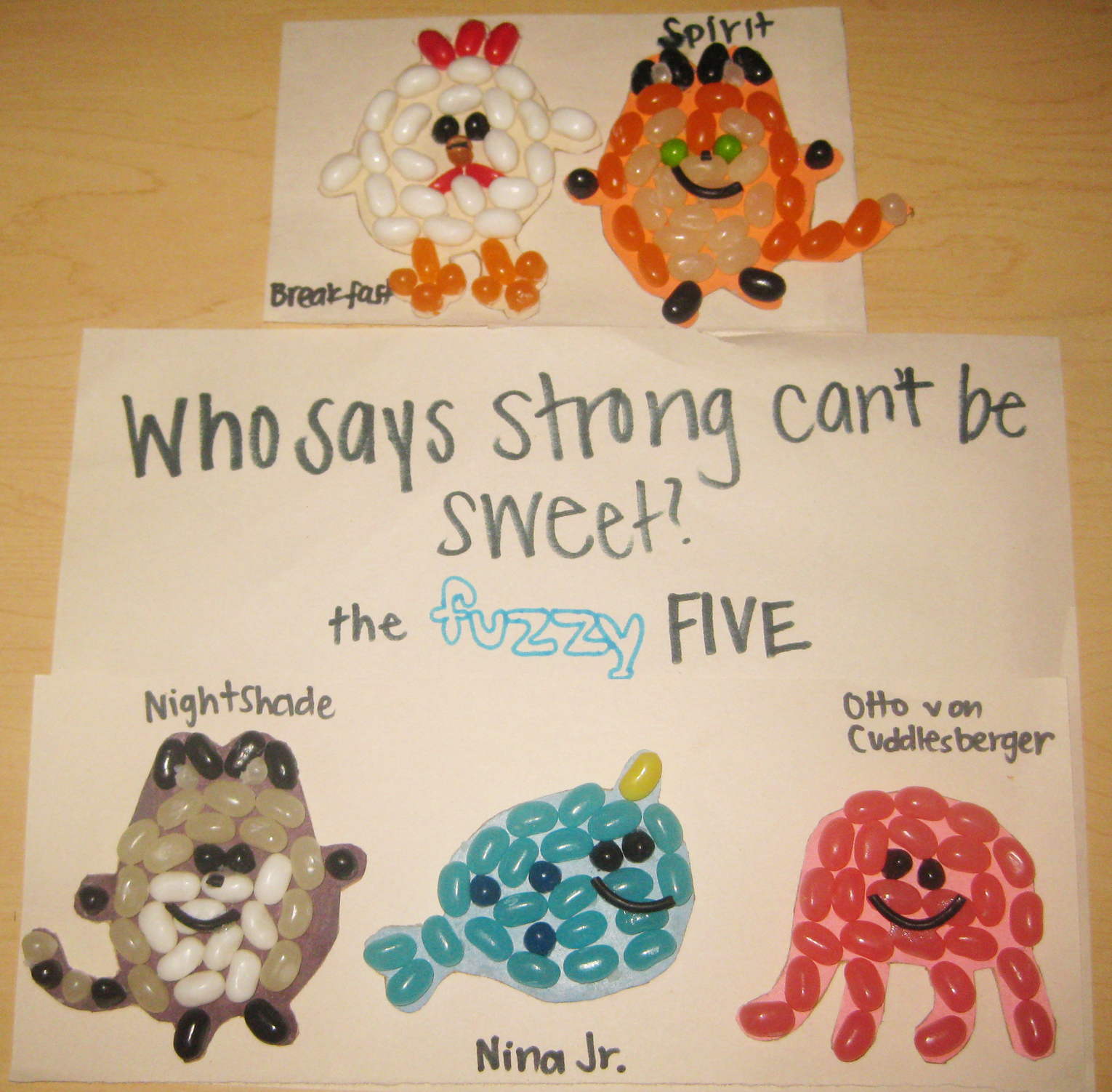 The Fuzzy Five Jellybeans